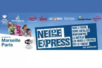 Neige Express 2018/2019 - Liaisons Bus Paris/Marseille pour les stations du Briançonnais